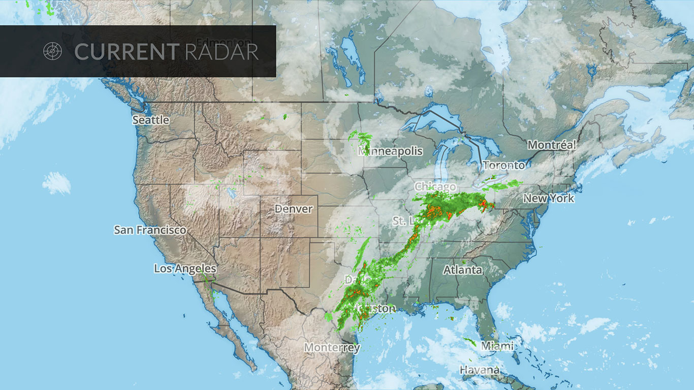 Weather Radar Map For Use In Digital Signage From Screenfeed - Us map weather radar